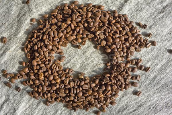 Kahve çekirdekleri arka plan renk makro tohumları Stok fotoğraf © inoj