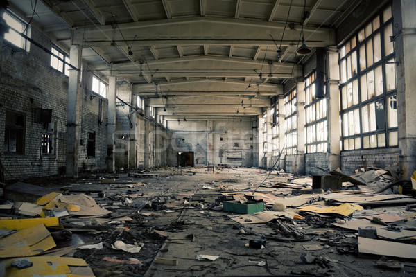 заброшенный промышленных интерьер строительство краской фон Сток-фото © inoj