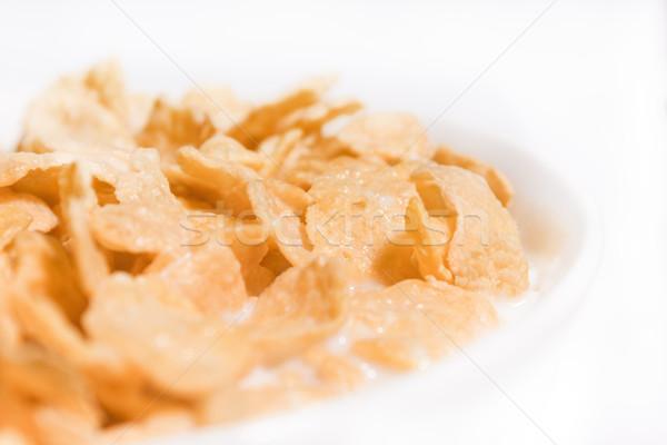 Süt mısır beyaz yemek yemek Stok fotoğraf © inoj