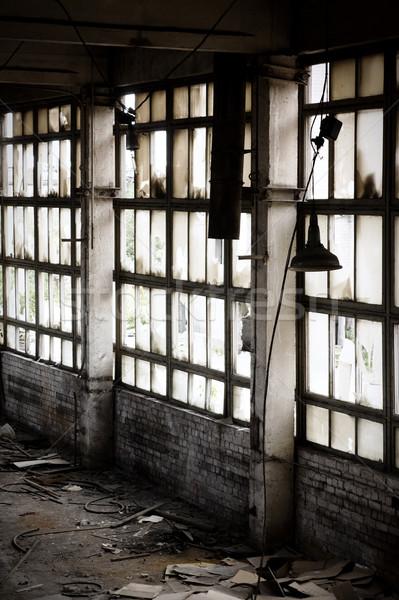 ウィンドウ 捨てられた 工場 ルーム 都市 産業 ストックフォト © inoj