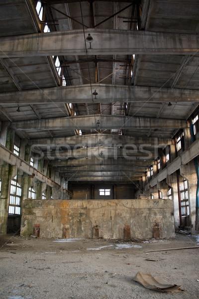 Verlaten industriële interieur bouw verf achtergrond Stockfoto © inoj