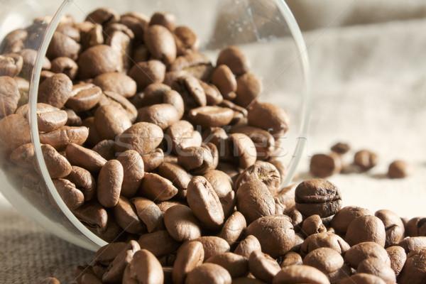 Kávé közelkép étel háttér szín makró Stock fotó © inoj