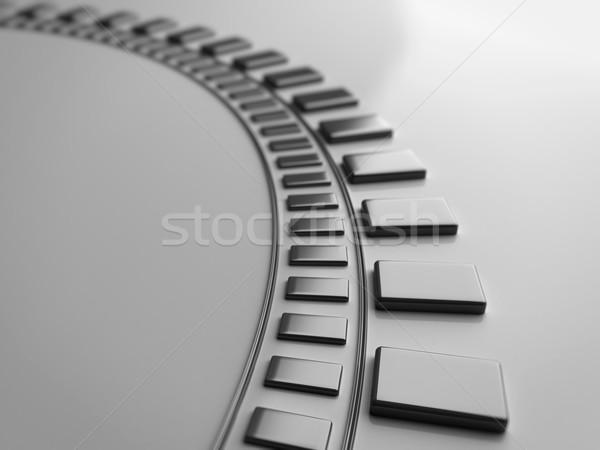Fémes görbe zene technológia űr ipar Stock fotó © inoj