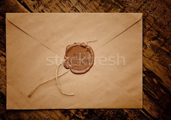 top secret envelope with stamp  Stock photo © inxti