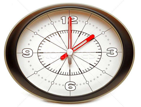 Mur horloge composer isolé blanche Photo stock © inxti