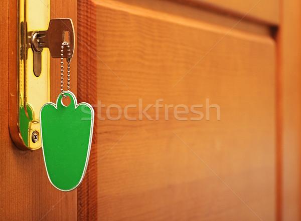 Zdjęcia stock: Czas · obraz · kluczowych · tag · drzwi