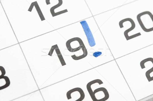 восклицательный знак календаря 19 служба цвета белый Сток-фото © inxti