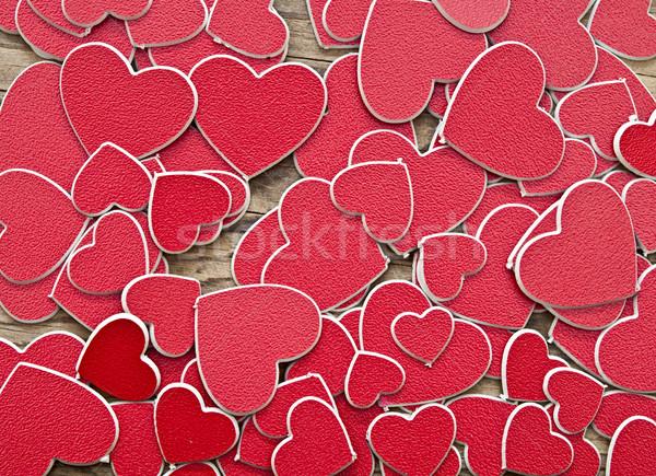 Minúsculo rojo corazones amor corazón Pareja Foto stock © inxti