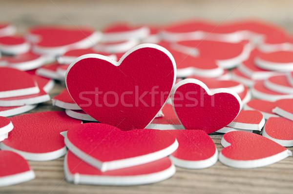 два красный сердцах дизайна знак Сток-фото © inxti