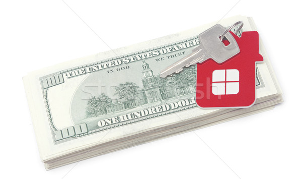 House keys over the hundred dollar banknotes  Stock photo © inxti