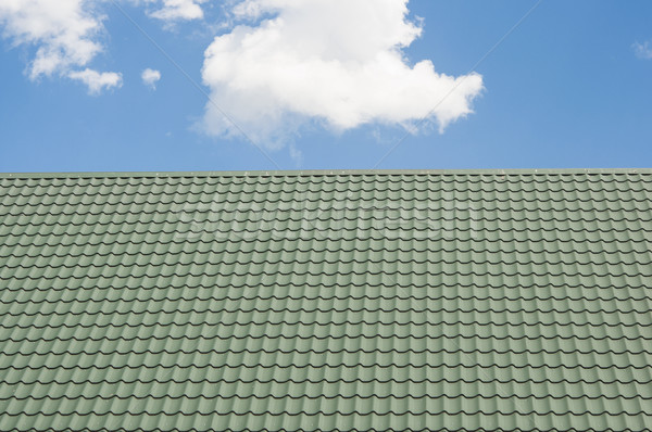 red roof with blue sky Stock photo © inxti