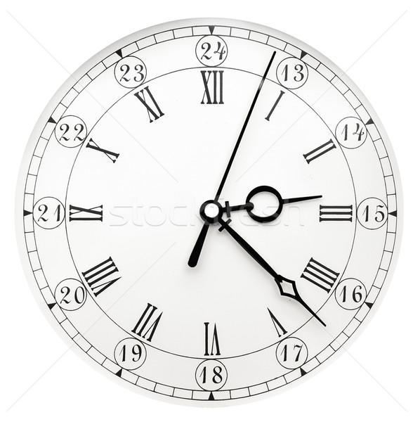 Klasszikus óra fehér idő antik vasaló Stock fotó © inxti