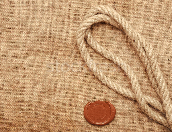 Stock photo: wax seal and rope