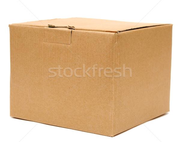 Zdjęcia stock: Karton · biały · mail · karty · pokładzie · transportu