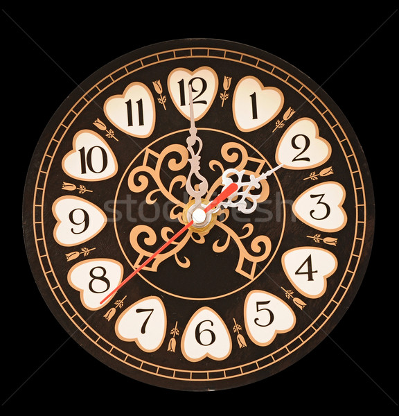 wall clock with a black dial  Stock photo © inxti