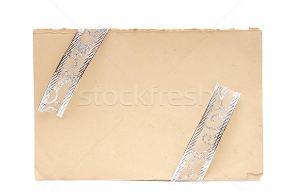 Gift card vintage uitnodigingen geïsoleerd witte Stockfoto © inxti