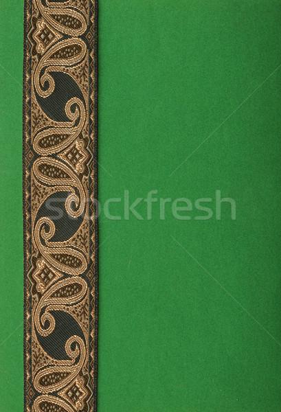 зеленый бумаги антикварная лента свет пространстве Сток-фото © inxti