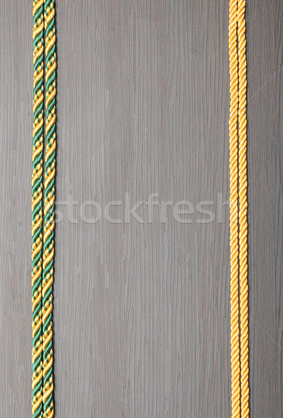 colorful rope frame on wooden background Stock photo © inxti