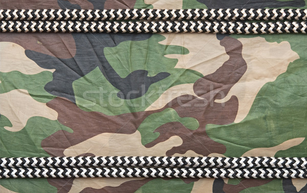 marine ropes on background of green camo Stock photo © inxti