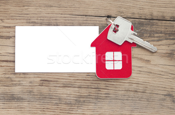 ключевые дома икона чистый лист бумаги здании Сток-фото © inxti