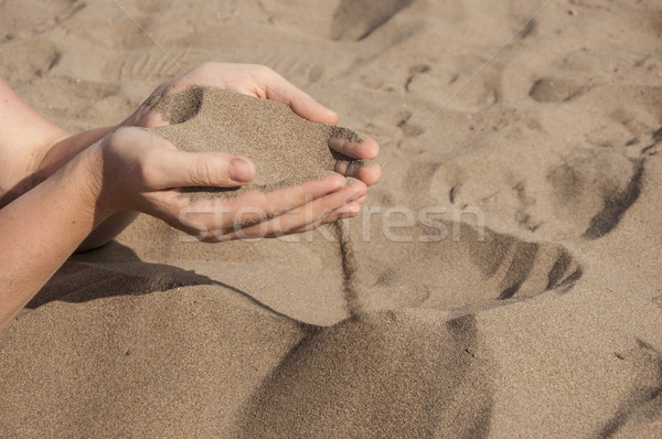 sand in hands Stock photo © inxti