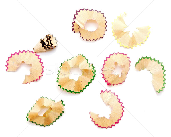 collection colour shaving is from pencils isolated on white  Stock photo © inxti