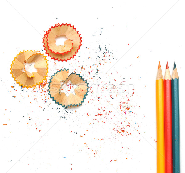 pencil shavings Stock photo © inxti