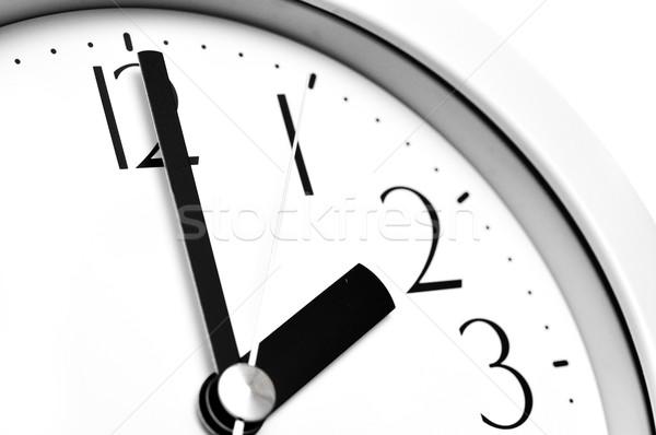Parede relógio branco negócio tempo preto Foto stock © inxti