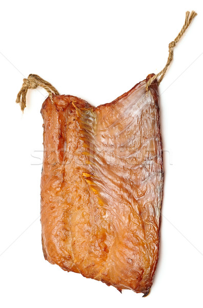 pieces smoked fish on a white background Stock photo © inxti
