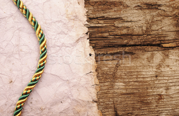 ropes on old vintage ancient paper background texture  Stock photo © inxti