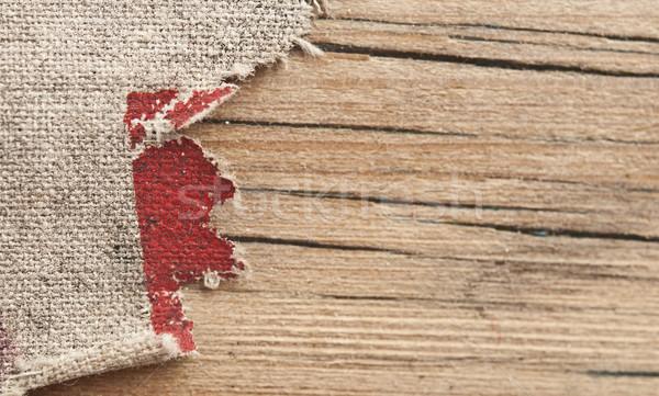 Texture toile de jute vieux bois papier bois rétro Photo stock © inxti