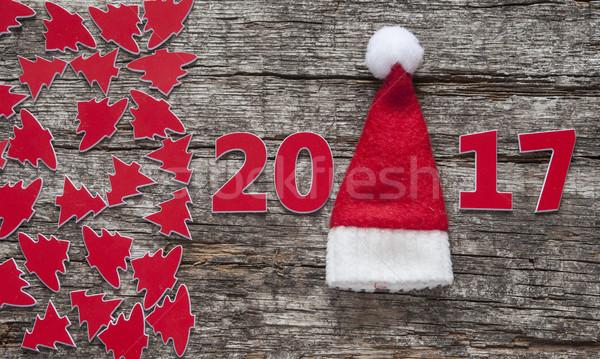 с Новым годом древесины текстуры дерево свет фон Сток-фото © inxti