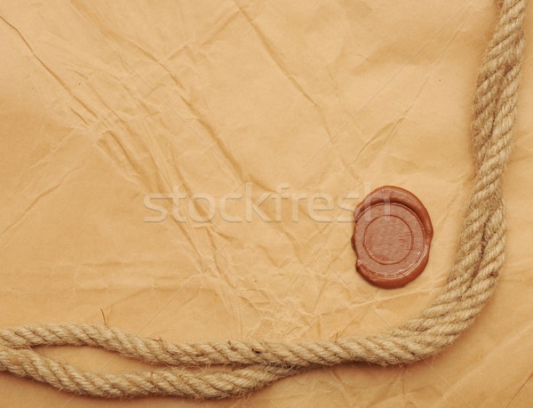 seal wax and rope Stock photo © inxti