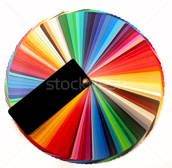 Color palette guide for printing industry isolated on white Stock photo © inxti