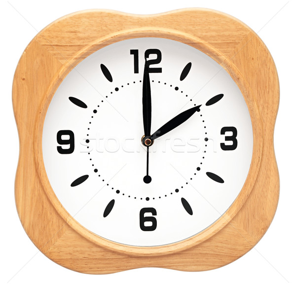 Large office wall clock showing time isolated on white  Stock photo © inxti