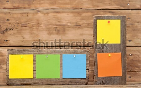 bulletin board with colorful note papers Stock photo © inxti