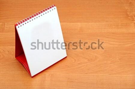 Pulpit kalendarza projektu tabeli zielone notebooka Zdjęcia stock © inxti