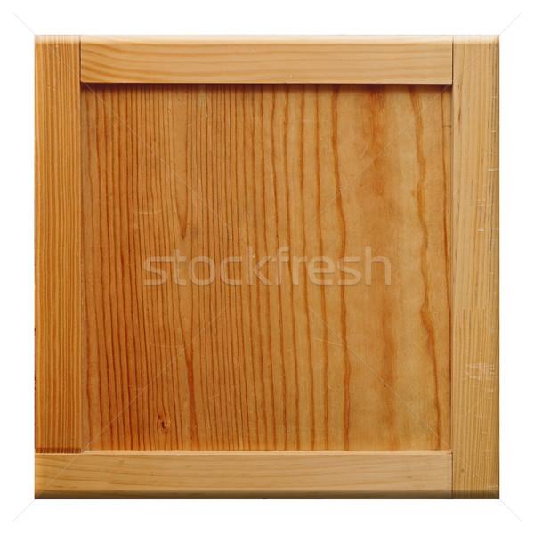wood frame on white background Stock photo © inxti