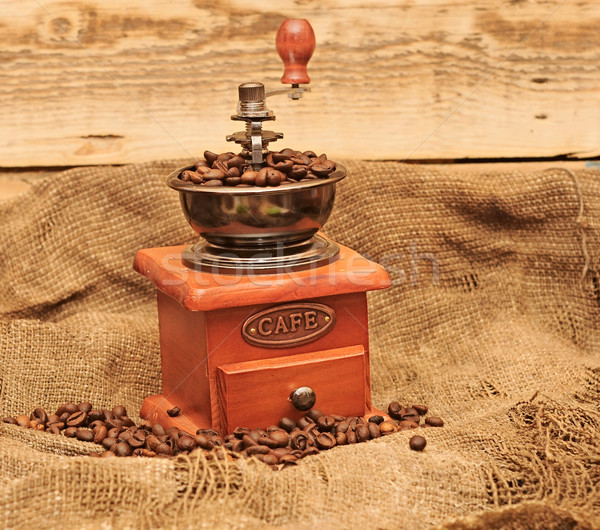 coffee mill with beans Stock photo © inxti