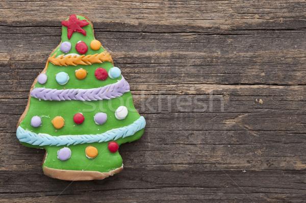 Vakantie cookie rustiek houten vakantie hout Stockfoto © inxti