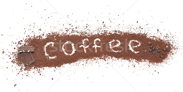 milled coffee sign and chocolate Stock photo © inxti