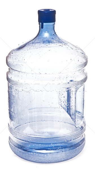 empty big plastic bottle for potable water isolated on a white b Stock photo © inxti