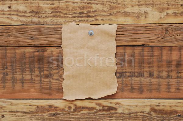 Régi papír fa fal háttér tapéta klasszikus Stock fotó © inxti