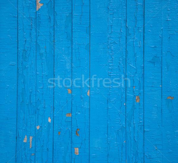 Сток-фото: текстуры · старые · грубо · синий · забор · стены