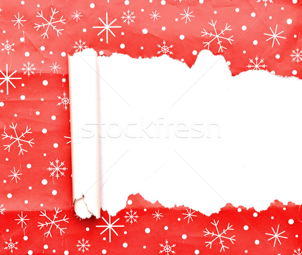 torn Christmas decorative paper Stock photo © inxti
