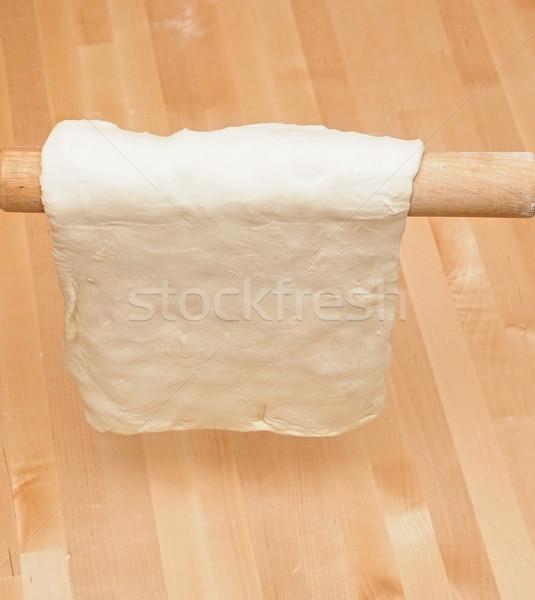 скалка кухне таблице приготовления Кука пирог Сток-фото © inxti