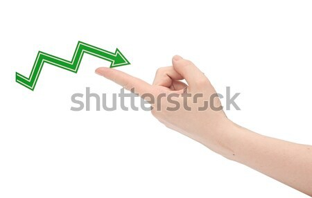 hand holds the arrow graph on a white background. financial succ Stock photo © inxti