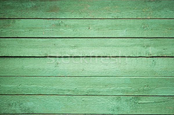 Background picture made of old green wood boards Stock photo © inxti