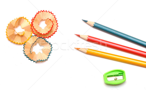 pencil shavings Stock photo © inxti