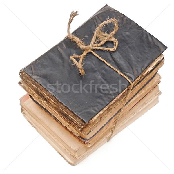 Starych książek liny odizolowany biały Zdjęcia stock © inxti